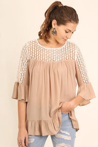 Prettiest Girl Crochet Blouse - ReservedChic