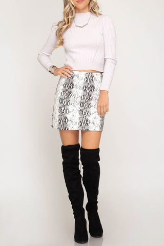 Chic Snake Mini Skirt - ReservedChic