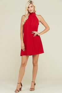 Emily Halter Dress in Red - ReservedChic