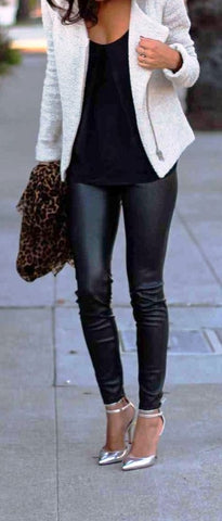 Faux Leather Leggings - ReservedChic