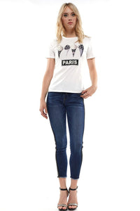 IceCream Paris Bling Embellishment Shirt - ReservedChic