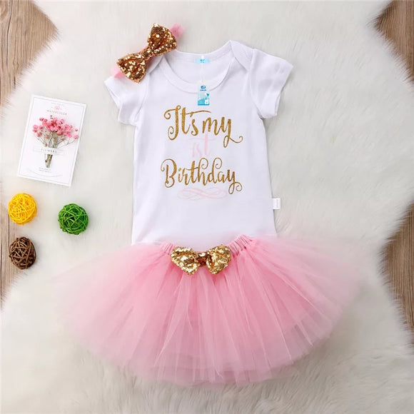 First Birthday Outfit - 3pcs - © 2019, Life Is'Bella / NEYSOUTH LLC.