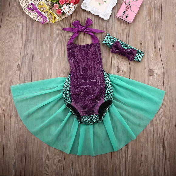 Mermaid Sequin Bodysuit With Matching Bow - © 2019, Life Is'Bella / NEYSOUTH LLC.