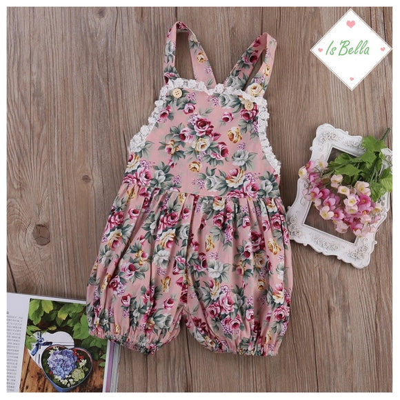 Baby Girl Floral Romper - © 2019, Life Is'Bella / NEYSOUTH LLC.