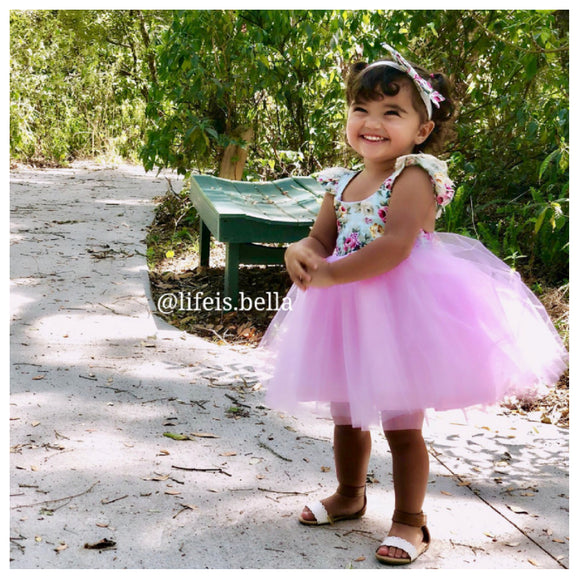 Pink Floral Tulle Dress - © 2019, Life Is'Bella / NEYSOUTH LLC.