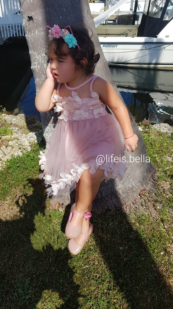 Girl's Sleeveless Petals Dress - Rose - © 2019, Life Is'Bella / NEYSOUTH LLC.