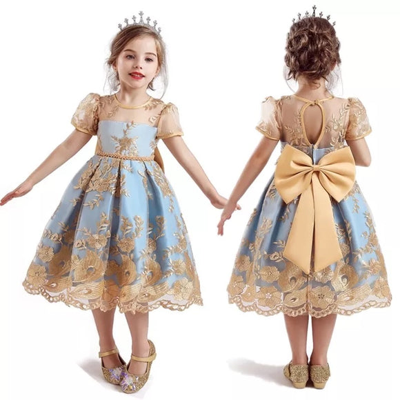 Elegant Lace Embroidery Girl's Dress - © 2019, Life Is'Bella / NEYSOUTH LLC.