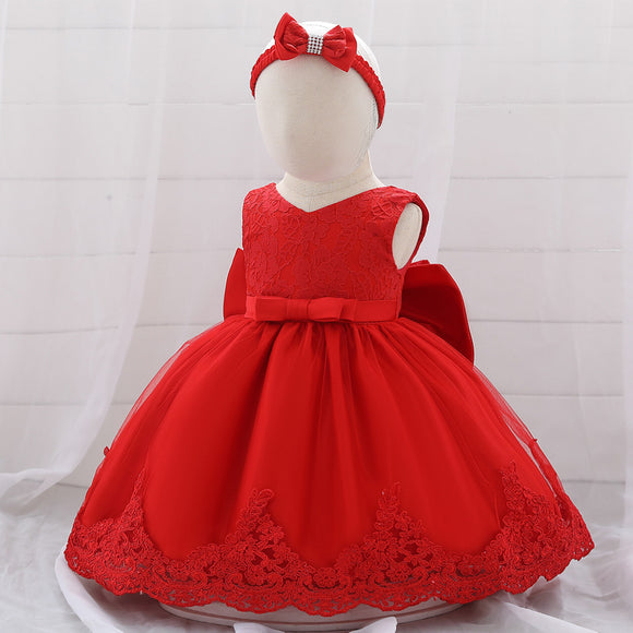 Red Baby Girl Lace Dress - © 2019, Life Is'Bella / NEYSOUTH LLC.