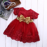 Toddler kids fancy red dress