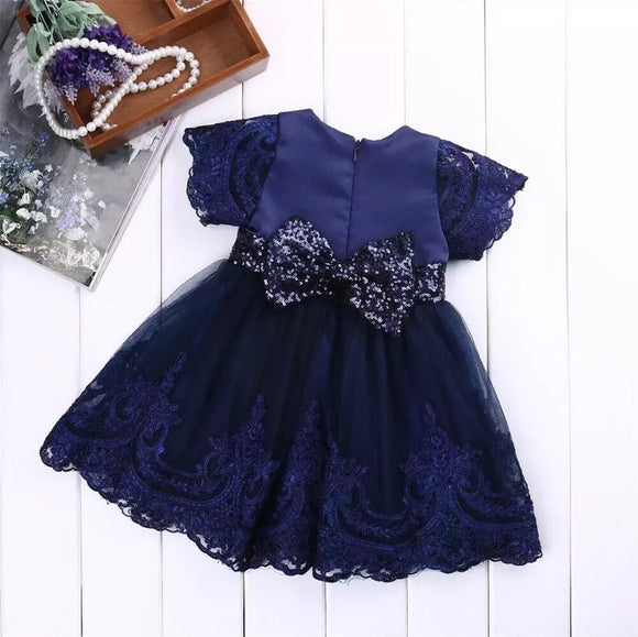 Toddler Kids Fancy Blue Dress