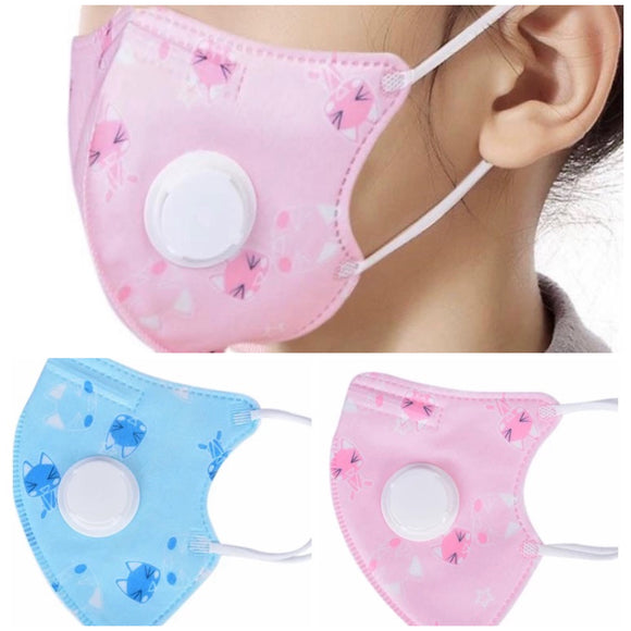 Face Mask KN95 for toddler 3Y-10Y  (1 pcs valve mask)