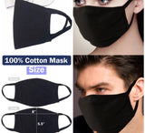 Black Face Mask 100% cotton