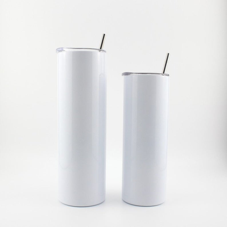 20oz. Straight Tumbler (Plastic Straw included. Metal Straw Available for additional fee).