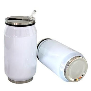 Stainless Steel Drinking Cans with Straw