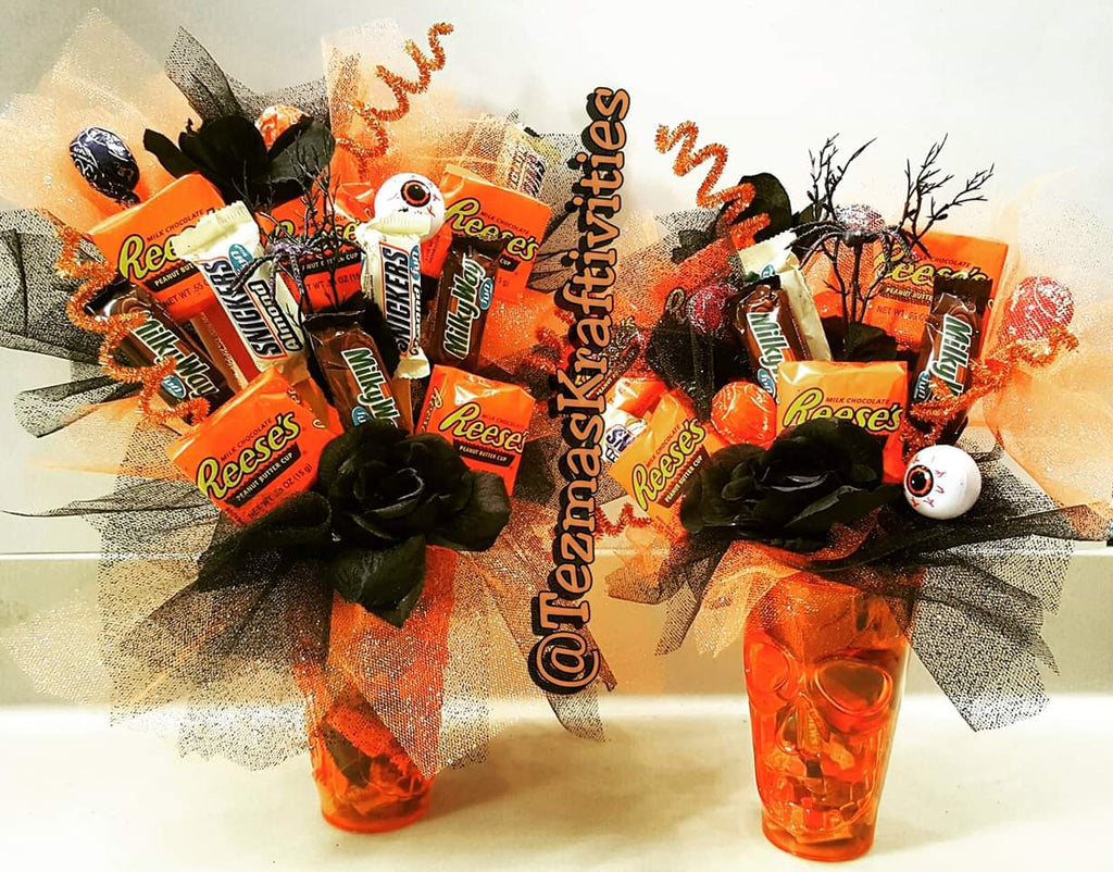 Halloween Candy Bouquets