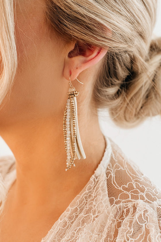 Braelynn Tassel Earrings in Ivory