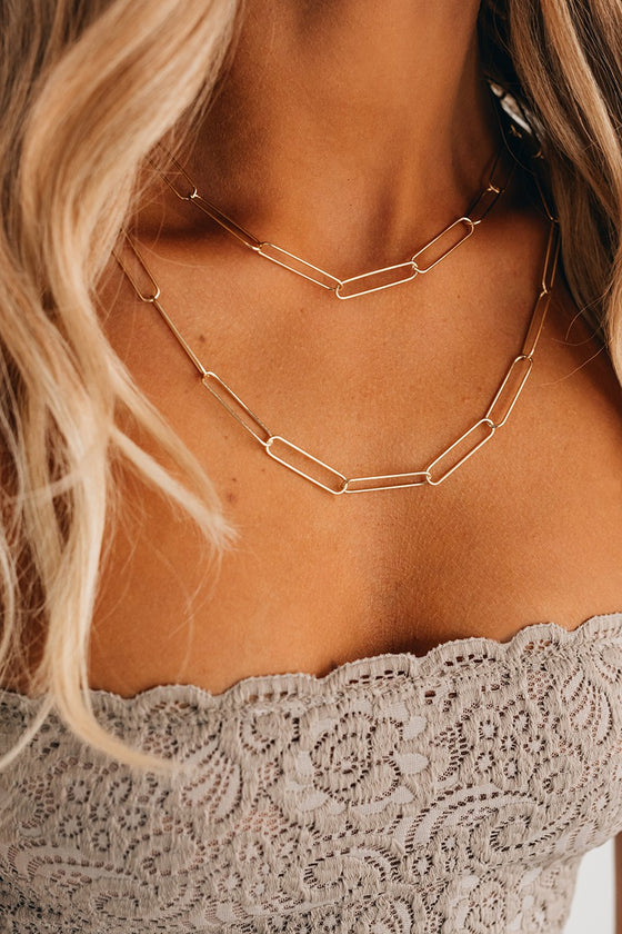 Cadence Paperclip Chain Necklace