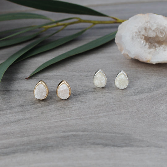 Zariah Druzy Studs in Gold