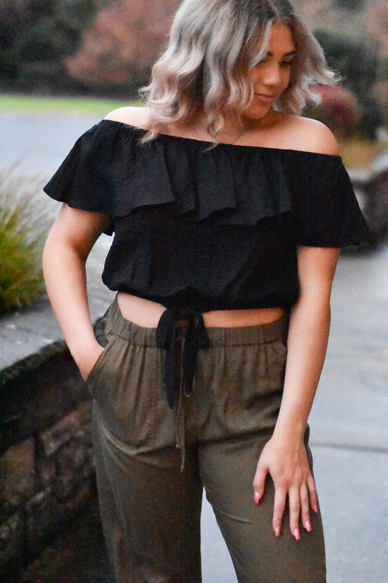 Adelina Off Shoulder Ruffle Top