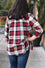 Aliyah Red Plaid Top