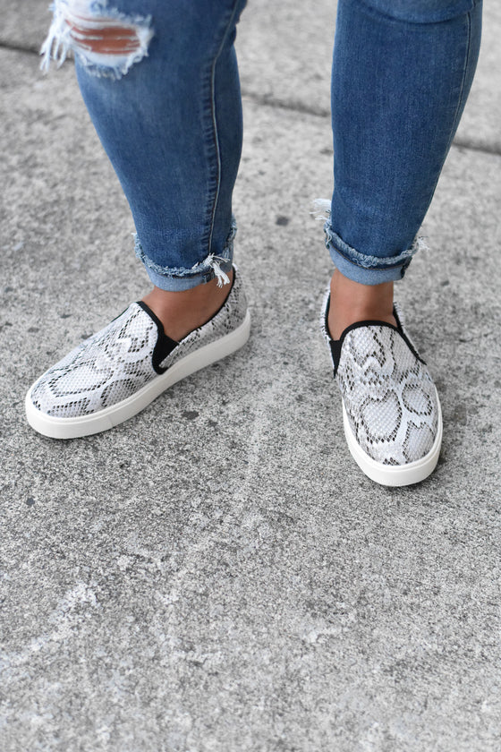 Alyssa Snake Slip on Sneakers