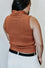 Amy Turtle Neck Sweater Tank in Rust
