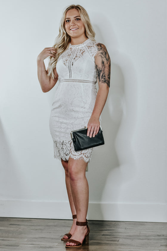 Arianna White Lace Dress