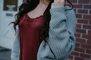 Ava Lace Cami Tank in Burgundy