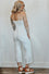 Bella White Stripe Crop Jumpsuit