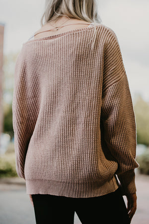 Caitlyn Mauve Washed Sweater