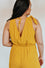 Cecilia Yellow Cross Front Romper