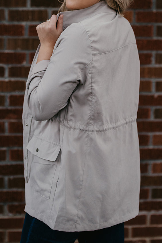 Cecily Grey Peach Skin Anorak Jacket