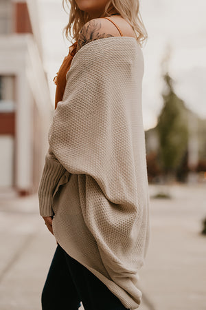 Chandra Oatmeal Reversible Cardigan