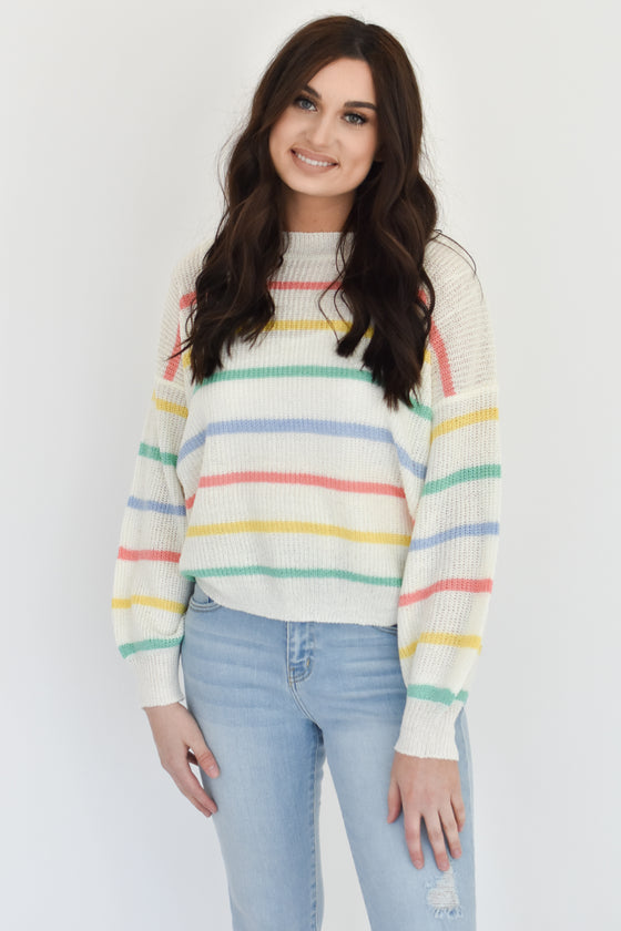 Charli Multi Color Stripe Sweater