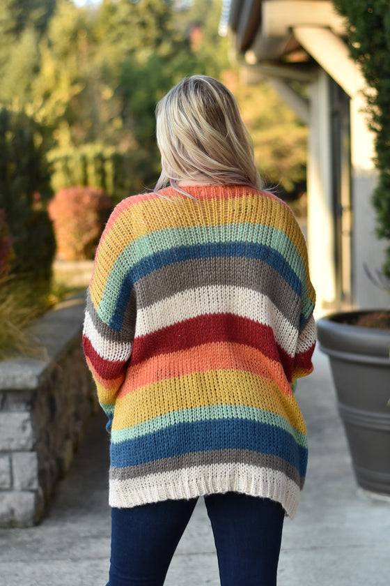 Christina Stripe Cardigan