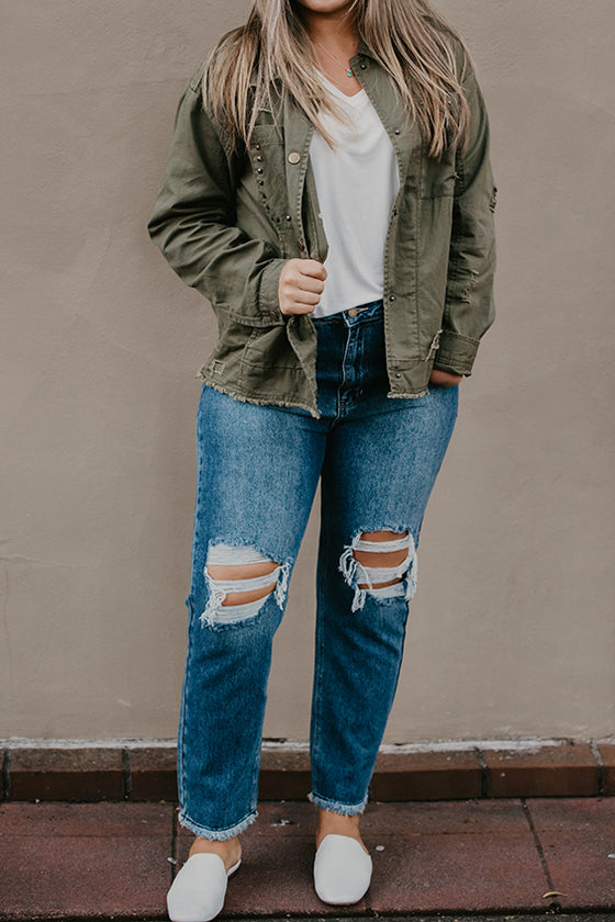 Cory Green Destructed Canvas Jacket
