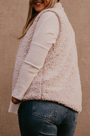 Courtney Blush Quilted Sherpa Reversible Vest