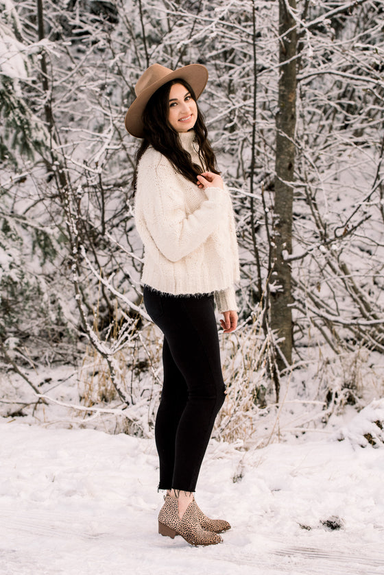 Kaia Ivory Cable Sweater
