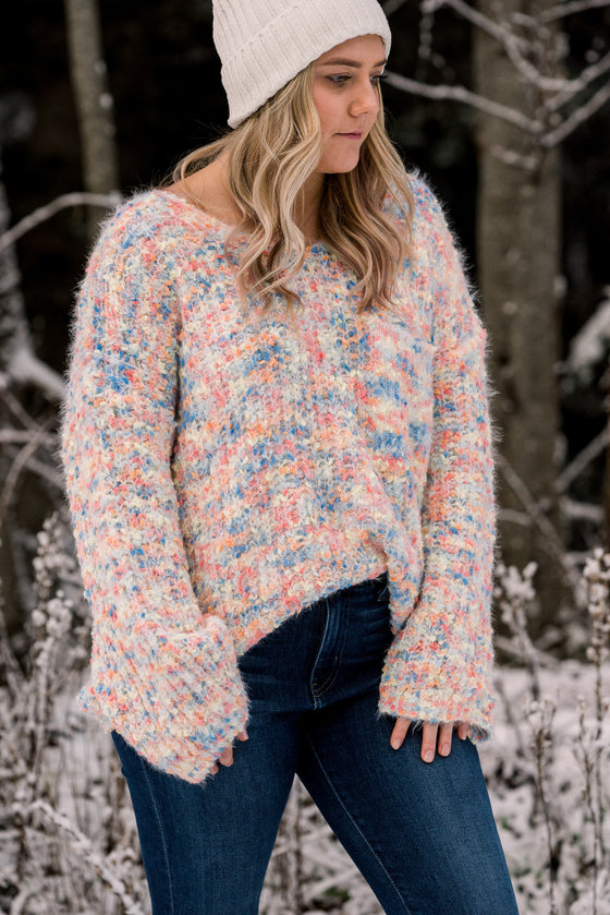 Rosemary Multicolor V Neck Sweater