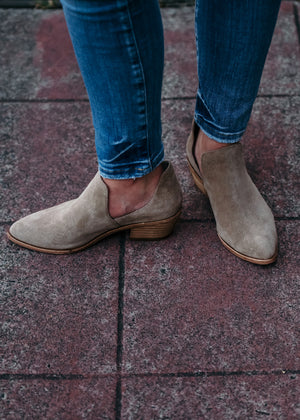 Finley Taupe Suede Short Booties