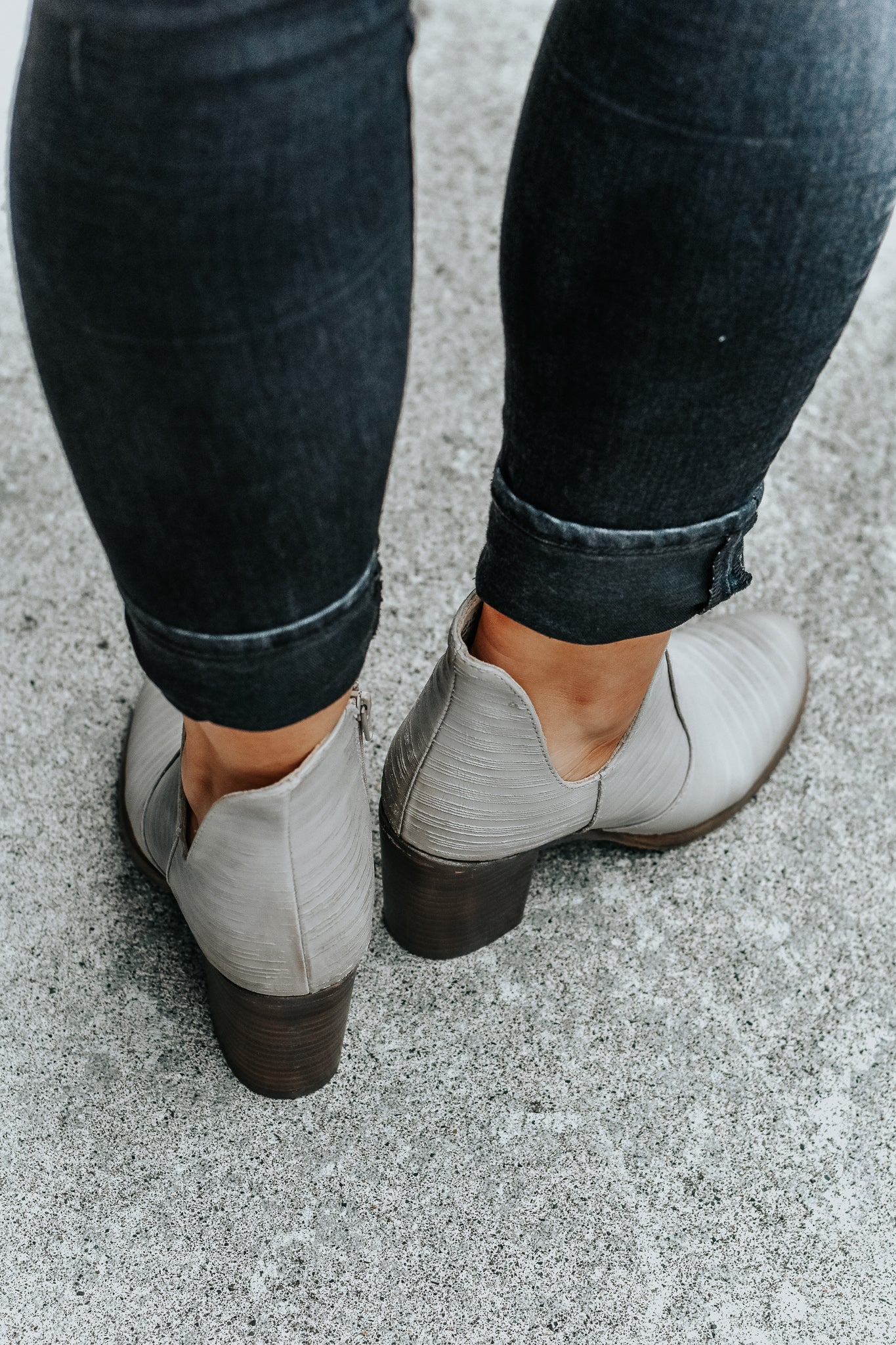 Madeline Grey Textured Booties