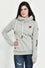 Aviana Sherpa Pullover Hoodie in Heather Grey