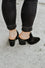 Vivian Black Mule Heel Booties