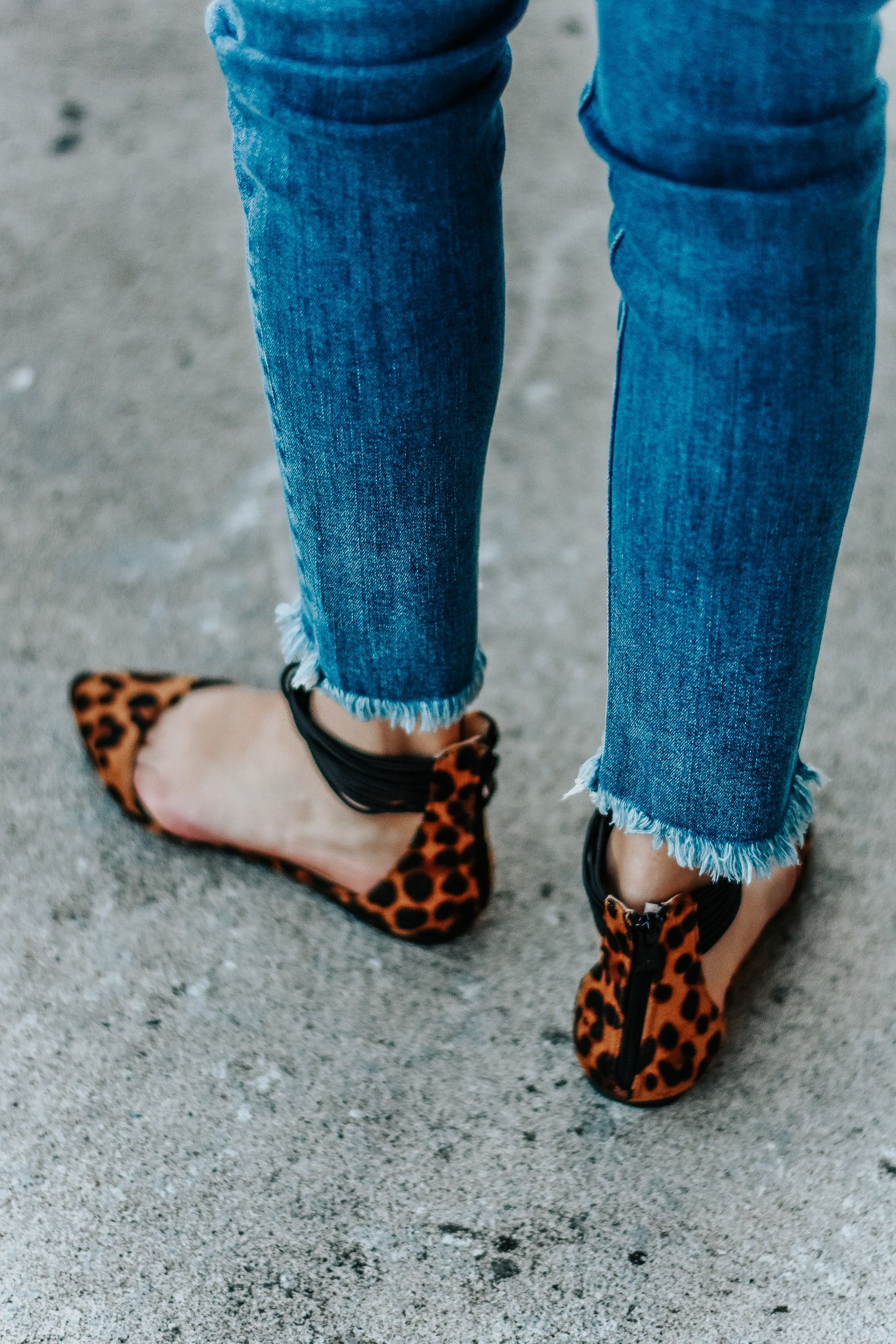 Alice Leopard Strappy Ankle Flats