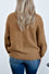 Madeleine Balloon Sleeve Sweater in Camel