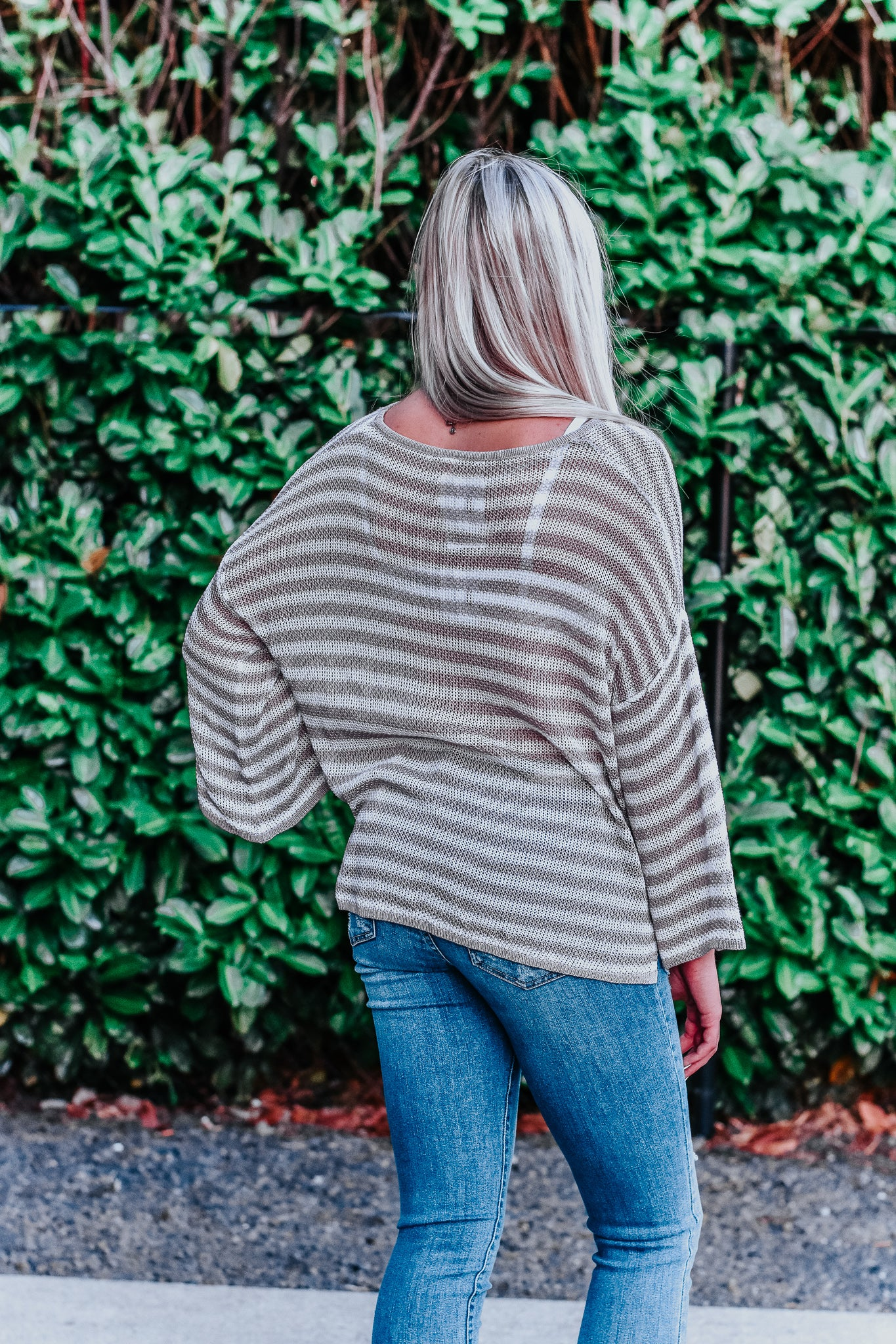 Dylan Mauve Stripe Sweater