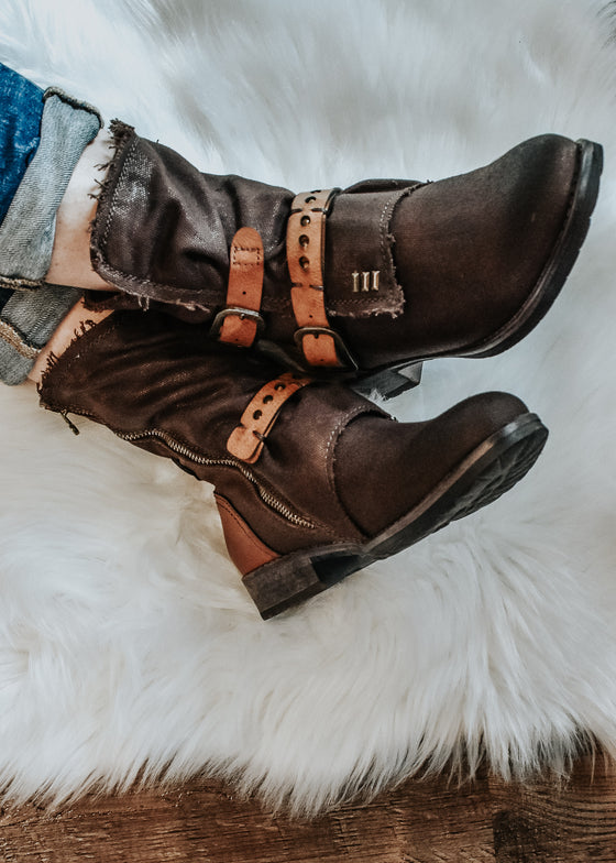 Natalie Boots in Chocolate and Cognac