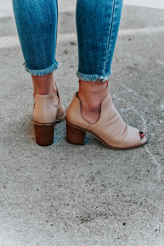 Liz Blush Open Toe Booties