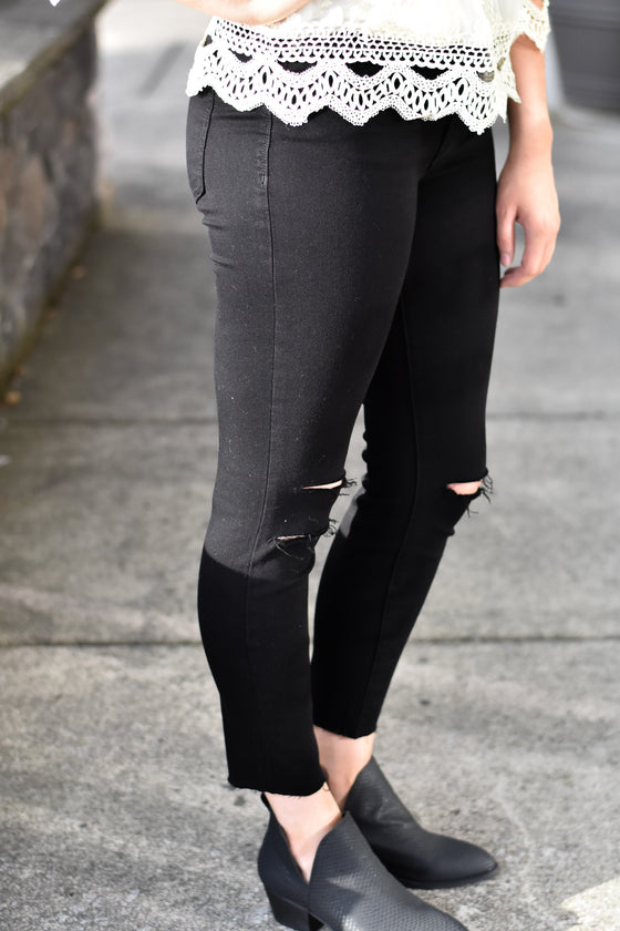 Lucille Black High Rise Skinny Jeans