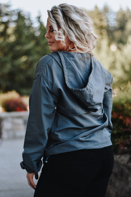 Gabriella Windbreaker in Grey